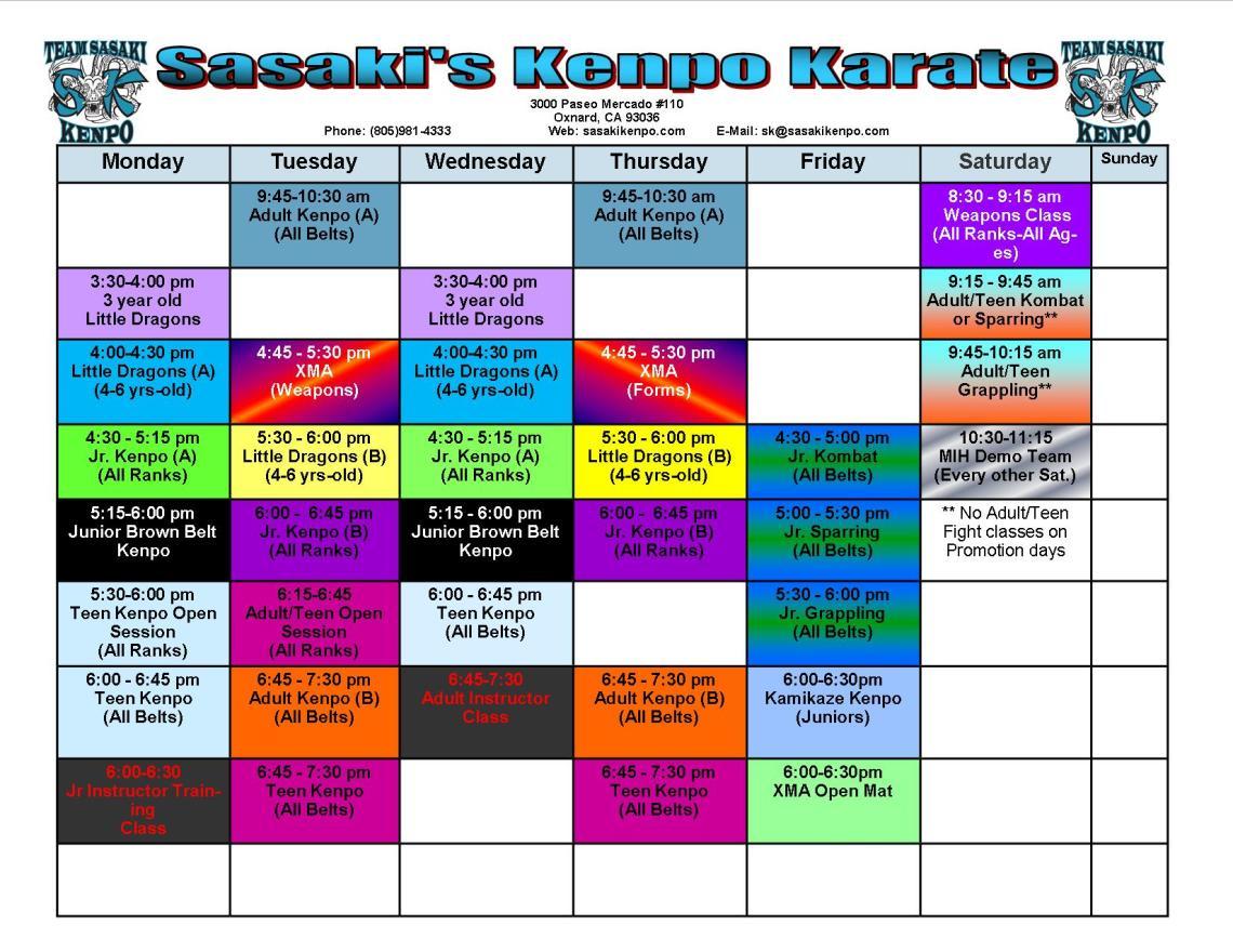 studio-schedule